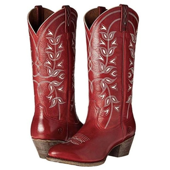 d440eb0d28a NEW Ariat Desert Holly Western Cowboy Boot Red